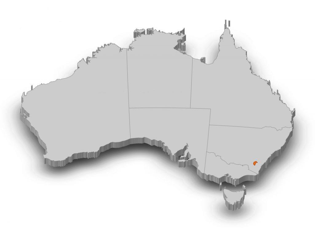 Map of Australia - ACT
