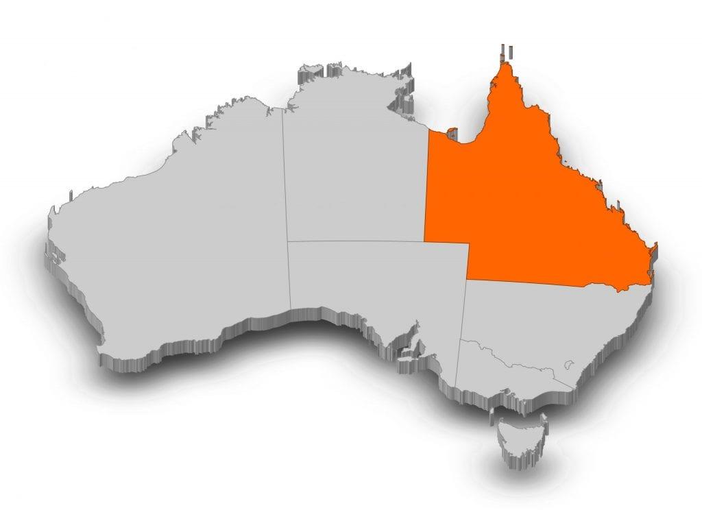 Map of Australia - Queensland