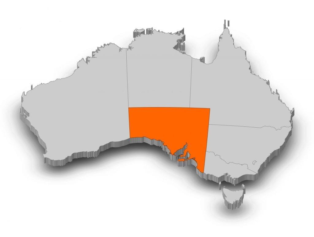 Map of Australia - South Australia