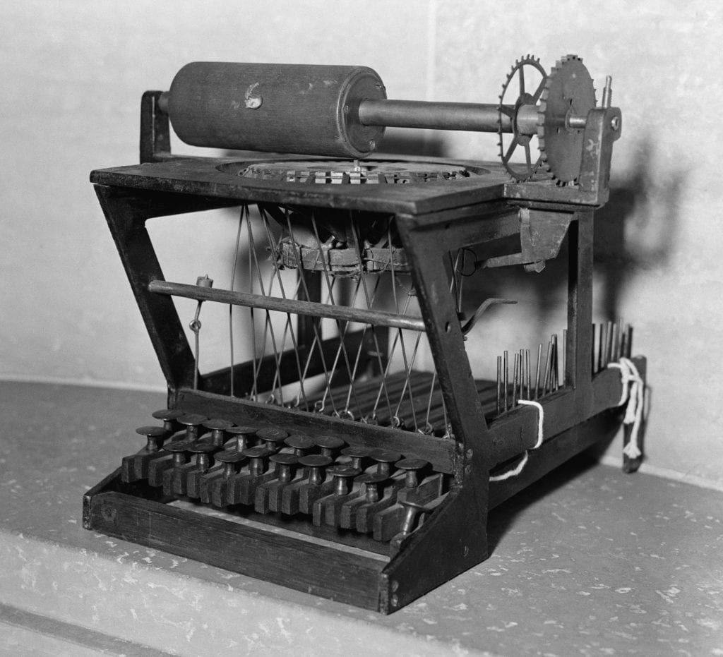 Early Model Scoles And Glidden Typewriter,