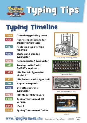Free Typing Tip Poster - Typing timeline