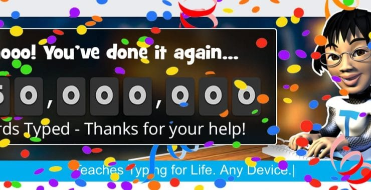 Typing Milestones: Over 250 000 000 Words Typed!
