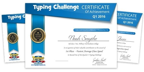 Term 2 2018 Typing Challenge Winners Announced