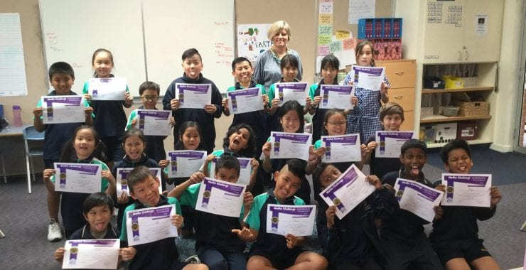 Visiting Winners for the Maths Challenge