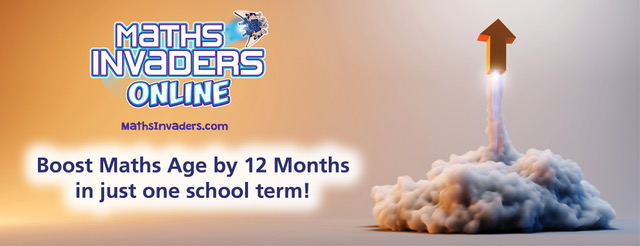 Increase your student's maths age by 1 year in 1 term with Maths Invaders Online Adaptive Learning.