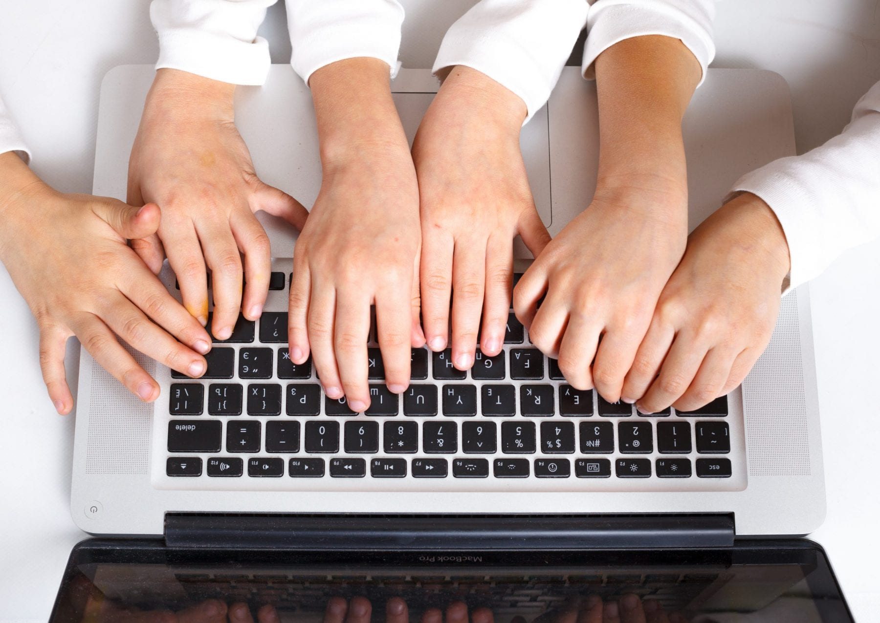 6 typing on a keyboard