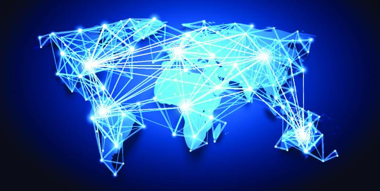 World map. Global Network